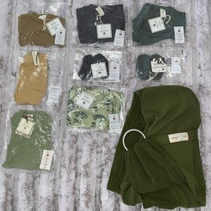 Organic Baby Clothes (NB, 0-3, 3-6) w/Sling